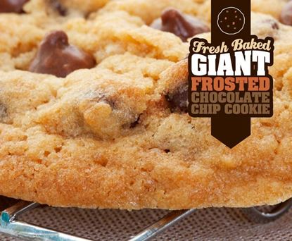 Giant Frosted Chocolate Chip Cookie
